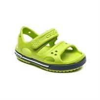 Crocs Crocband Ii Sandal - סנדל ילדים בצבע ירוקנייבי עם סקוצ