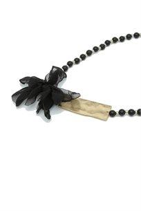 שרשרת  פרח שחור -
