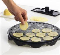 ערכה להכנת צ'יפס טעים וקריספי במיקרוגל בצורה מהירה ובריאה ללא שימוש בשמן