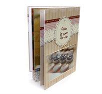 כל המתכונים במקום אחד! ספר מתכונים בגודל A4 אנכי כרוך בכריכה קשה 32 עמודים