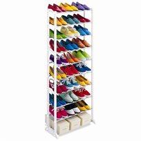 מעמד נעליים מודולארי לאחסון של עד 30 זוגות נעליים עם עשרה מדפים לשמירה על הסדר בארון!
