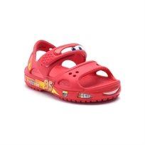 Crocs Crocband II Cars Sandal PS - סנדל ילדים אדום עם הדפס מכוניות