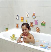 סט חיות להתאמה ומשחק באמבטיה