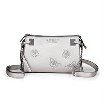 Guess נשים // Lizzy Crossbody Top Zip Pewter