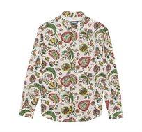 חולצה מכופתרת ארוכה בהדפס פייזלי Axel לגברים - צבעוני