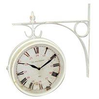 שעון קיר אנלוגי, בעיצוב תחנת רכבת עתיקה עם ספרות רומיות ב-2 גדלים לבחירה