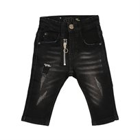 ORO ג'ינס(12 חודשים -16 שנים) - שחור פאטצ' זיפר