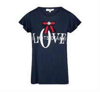 חולצה מודפסת MORGAN עם שרוולי מלמלה בשני צבעים לבחירה