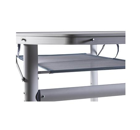שולחן מתקפל המתאים לקמפינג, לגינה וים העשוי מאלומיניום ו-MDF - תמונה 3