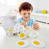 משחק דמיון באוכל - קרטון ביצים למשחק Hape