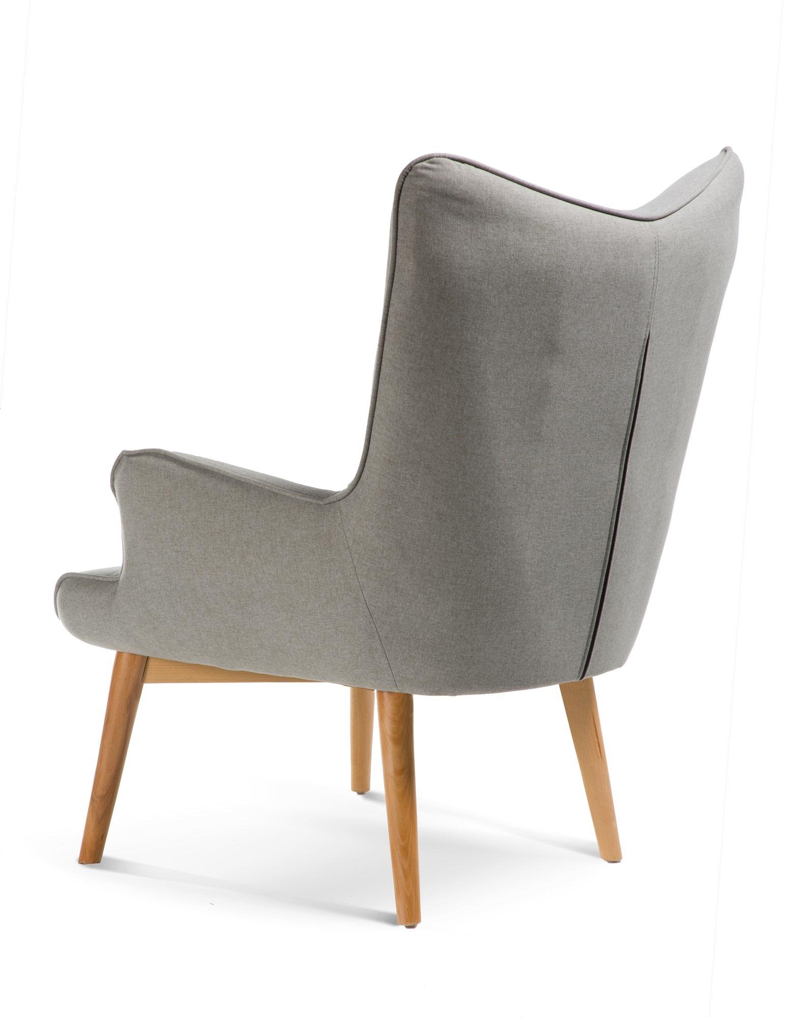 כורסה מודרנית בעלת שלדת עץ אורן ריפוד בד ומערכת תמיכת ישיבה מתקדמת דגם בסקי ביתילי  - תמונה 4