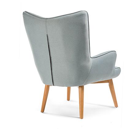 כורסה מודרנית בעלת שלדת עץ אורן ריפוד בד ומערכת תמיכת ישיבה מתקדמת דגם בסקי ביתילי  - תמונה 7