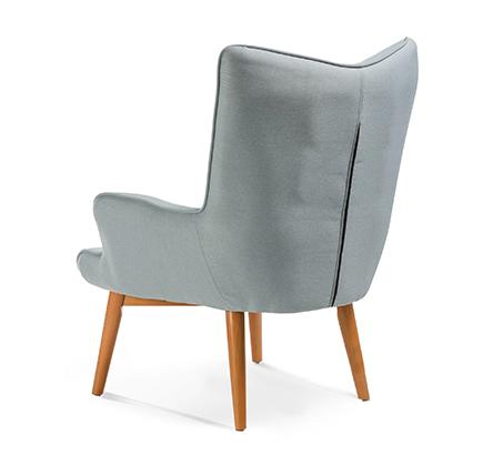 כורסה מודרנית בעלת שלדת עץ אורן ריפוד בד ומערכת תמיכת ישיבה מתקדמת דגם בסקי ביתילי  - תמונה 8