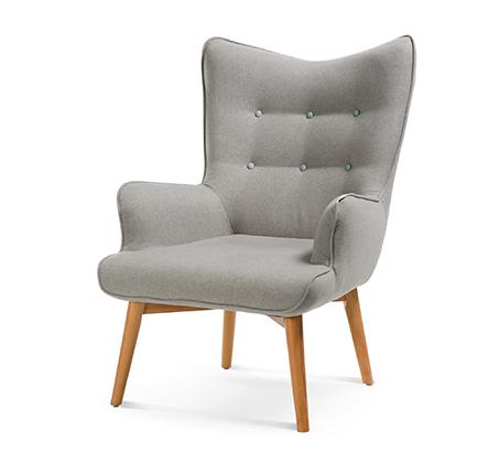 כורסה מודרנית בעלת שלדת עץ אורן ריפוד בד ומערכת תמיכת ישיבה מתקדמת דגם בסקי ביתילי  - תמונה 3