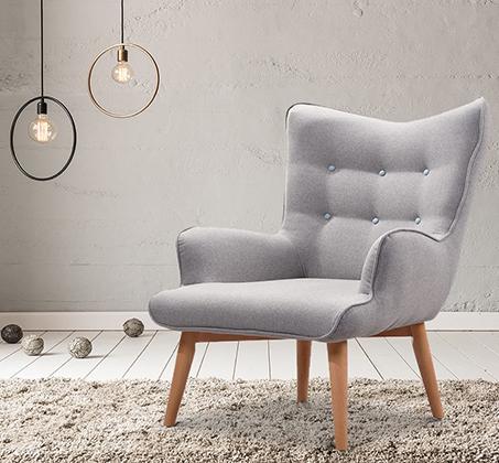 כורסא מעוצבת עם מסגרת ורגלי עץ דגם בסקי ביתילי