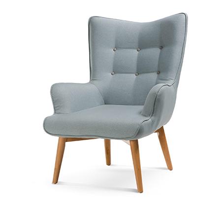 כורסה מודרנית בעלת שלדת עץ אורן ריפוד בד ומערכת תמיכת ישיבה מתקדמת דגם בסקי ביתילי  - תמונה 6