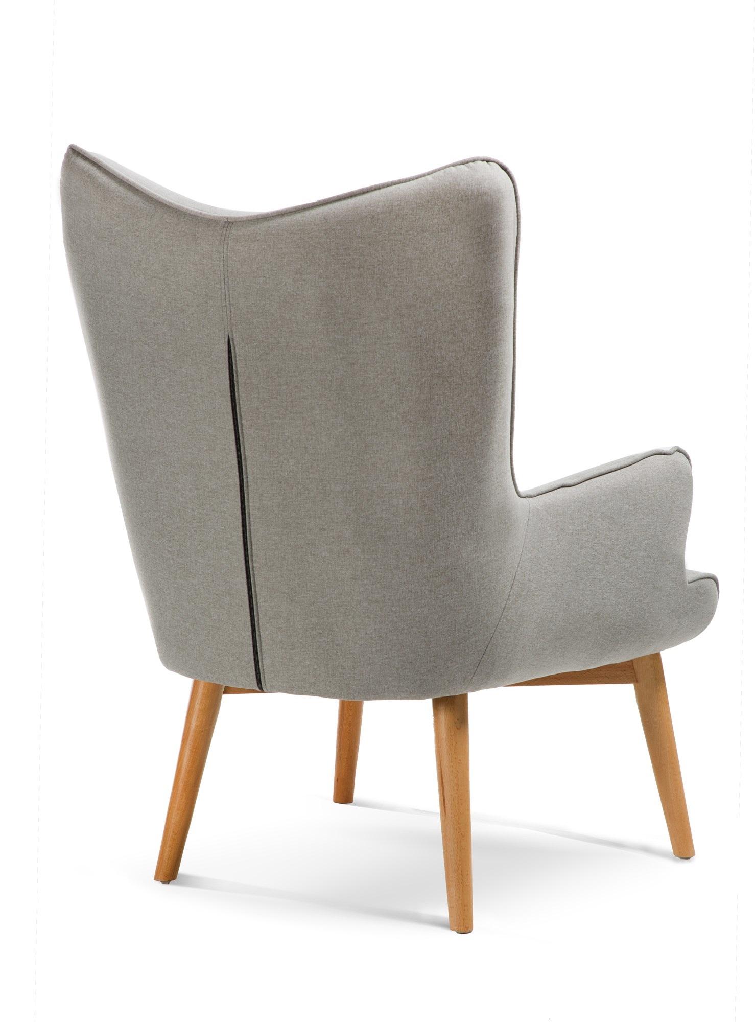 כורסה מודרנית בעלת שלדת עץ אורן ריפוד בד ומערכת תמיכת ישיבה מתקדמת דגם בסקי ביתילי  - תמונה 5