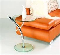 שולחן סלון עשוי זכוכית בעיצוב אולטרה מודרני ונקי דגם PALM מבית GAROX - משלוח חינם