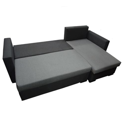 מערכת ישיבה פינתית נפתחת למיטה זוגית וארגז מצעים דגם קורל HOME DECOR - תמונה 4