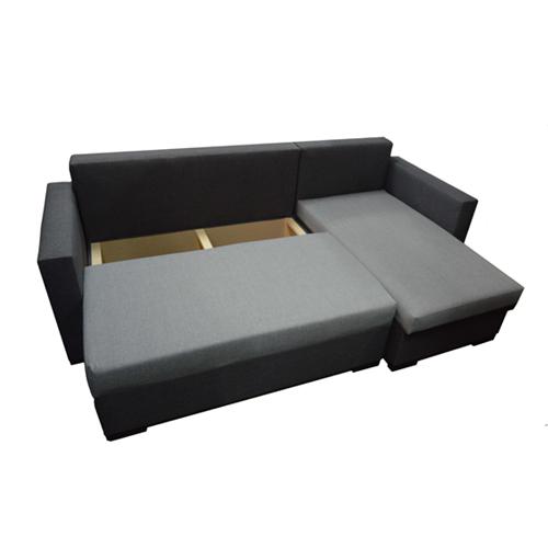 מערכת ישיבה פינתית נפתחת למיטה זוגית וארגז מצעים דגם קורל HOME DECOR - תמונה 3