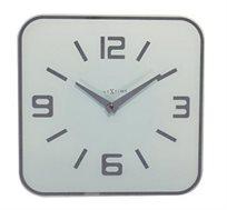 שעון קיר זכוכית לבן