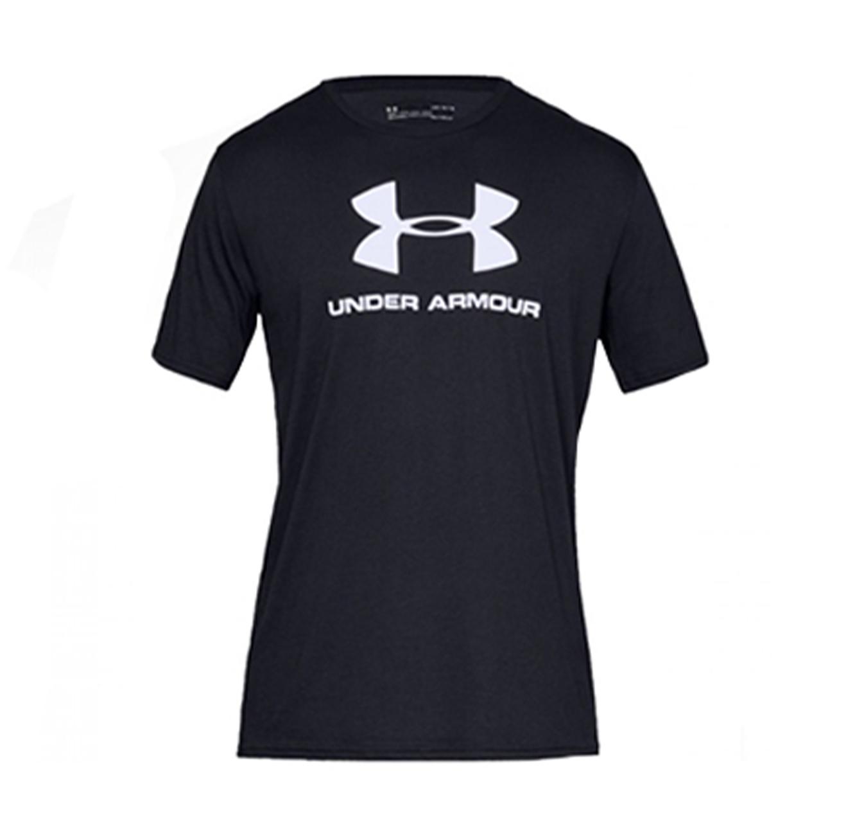 חולצת טישרט לגברים Under Armour SS19 SPORTSTYLE LOGO SS - שחור
