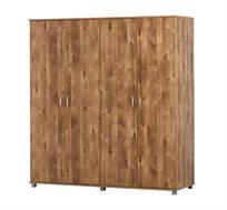 ארון בגדים 4 דלתות צד מדפים צד תליה במגוון צבעים לבחירה