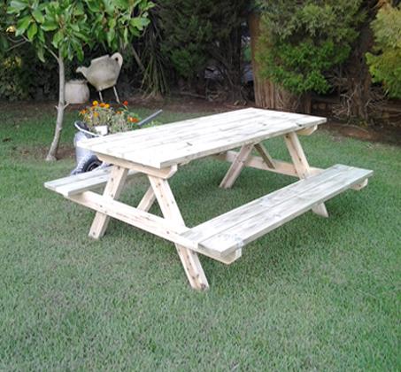 פותחים שולחן פיקניק לחג! שולחן פיקניק מעץ אורן איכותי, החל מ-₪749! - תמונה 3