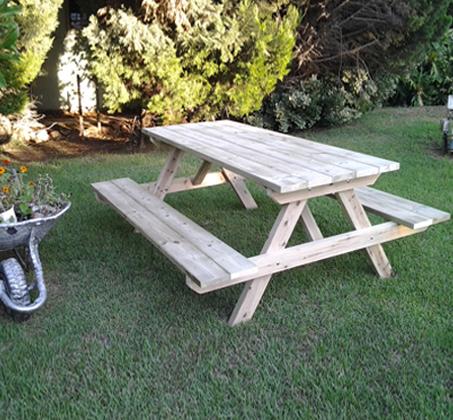 פותחים שולחן פיקניק לחג! שולחן פיקניק מעץ אורן איכותי, החל מ-₪749! - תמונה 4