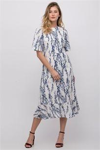 שמלת אריג מידי מודפסת