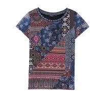 חולצה קצרה בהדפס סגנון בוהו צבעוני לנשים Desigual דגם Lucia