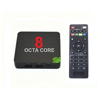 סטרימר ANDROID TV BOX OCTA CORE 4K +שלט כולל קודי פתוח Kodi