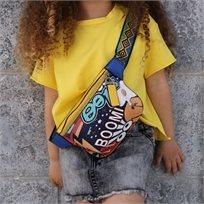 פאוץ ORO לילדות (ONE SIZE) צהוב קשקוש