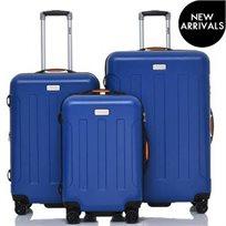 JEEP ג׳יפ סט 3 מזוודות קשיחות Miami כחול ים