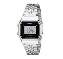 שעון יד דיגיטלי רטרו - כסף