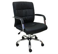 כיסא משרדי לשימוש במשרד ובבית מנגנון נדנוד דגם מיטל גב בינוני