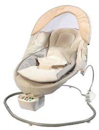 נדנדה חשמלית מפוארת שקטה במיוחד משולבת טרמפולינה לתינוק By-018