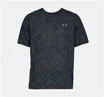 חולצת אימונים לגבר Under Armour SS18 UA THREADBORNE PRINTED SS דגם 1310291-001 בצבע שחור