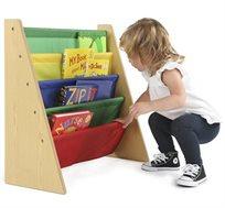 ארגונית ספרים צבעונית לחדרי ילדים