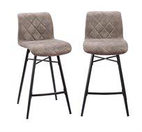 זוג כסאות בר דגם מתן עם רגלי מתכת