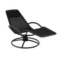 כיסא נדנדה קפיץ שחור CAMPTOWN דגם פטרס