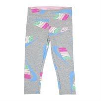 טייץ נייקי לוגו אפור לילדות - Nike Fleece Jersey Legging Grey