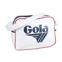 Gola - תיק צד ספורטיבי אופנתי בצבע לבןנייביאדום