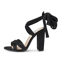 STEVE MADDEN נשים// CHRISTEY BLACK SUEDE