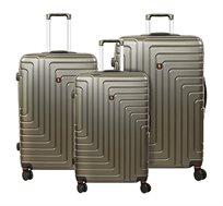 סט 3 מזוודות קשיחות בצבעים לבחירה SWISS