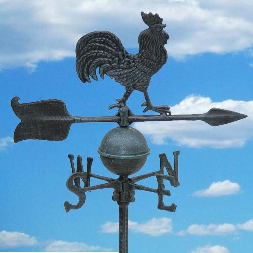 שבשבת רוחות מברזל עם דמות תרנגול לעיצוב הגינה - משלוח חינם - תמונה 2