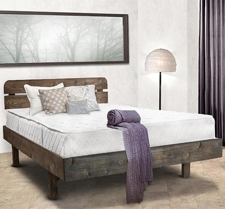 מיטה זוגית מעץ אורן מלא דגם פרפר אולימפיה ומזרן מתנה במגוון צבעים לבחירה