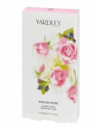 Yardley English Rose Soap Bar Trio