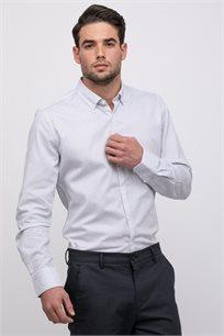 חולצה מכופתרת כותנה עם דוגמא אול אובר