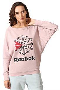 סווטשירט לנשים REEBOK דגם CV5032 בצבע ורוד בהיר